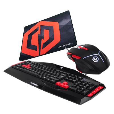 Cyberpower Casual Gaming Bundle(includes a keyboard, mouse and mouse pad)