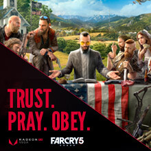 Free Far Cry 5 game coupon when you purchase any Desktop with RX Vega 56 or RX 580 8GB