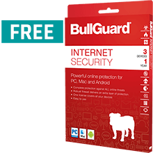 FREE BullGuard Internet Security with EVERY PC or Laptop