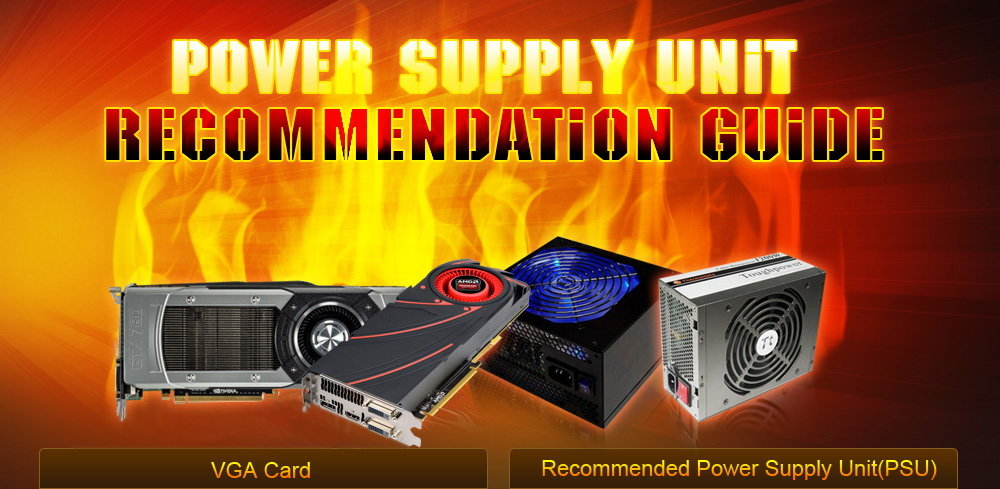 Power Supply Unit Recommendation Guide